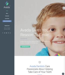 Avada theme dentist