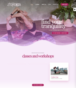 Avada theme yoga