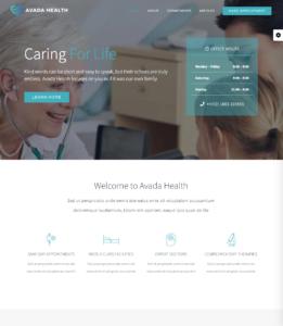 Avada theme Health